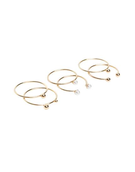 3-pack of minimalist rings