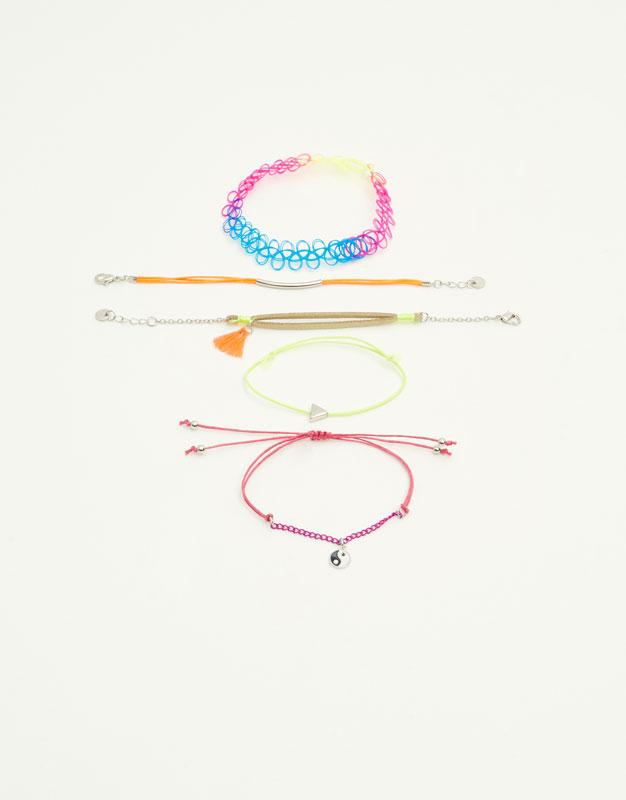 Lot 5 bracelets fluo
