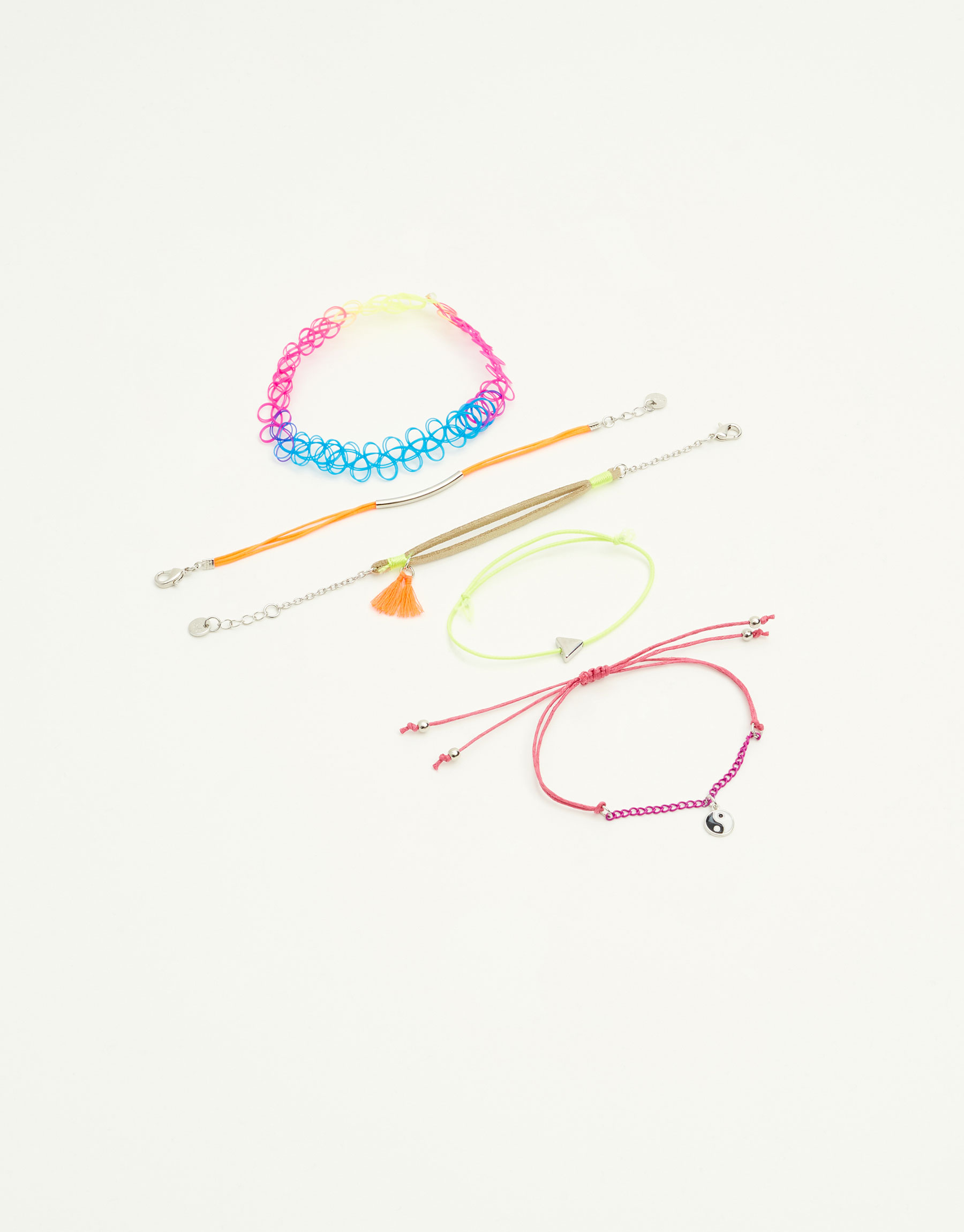 5-pack of neon bracelets
