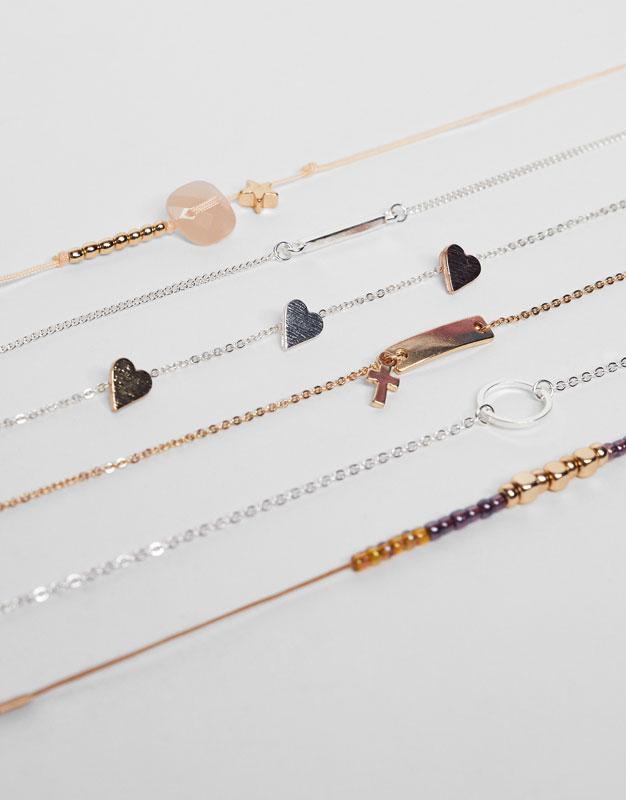 6-Pack of assorted bracelets