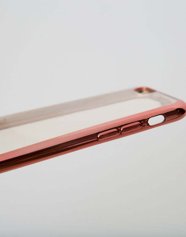 Metallic edge iphone case