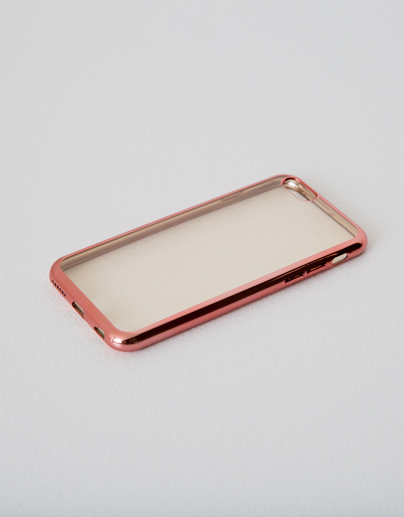 Metallic edge iphone case