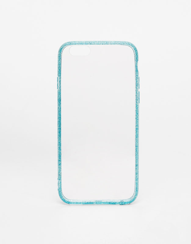 Carcasa iphone borde glitter