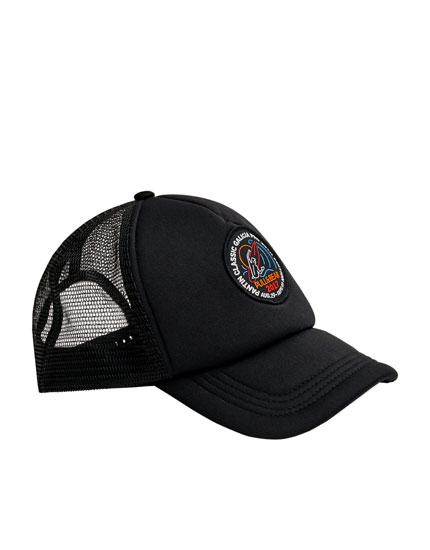 Black cap with patch - Pantín Collection