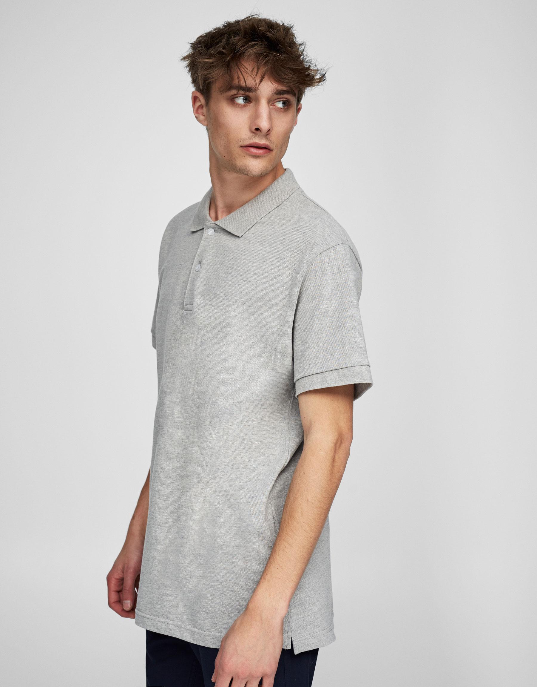 Basic ensfarvet poloskjorte