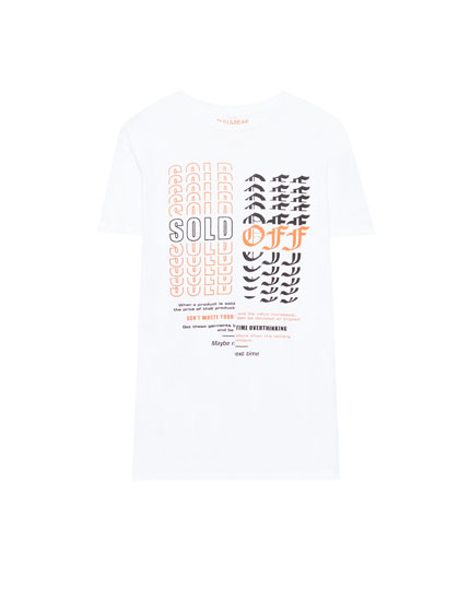 'Sold out' print T-shirt