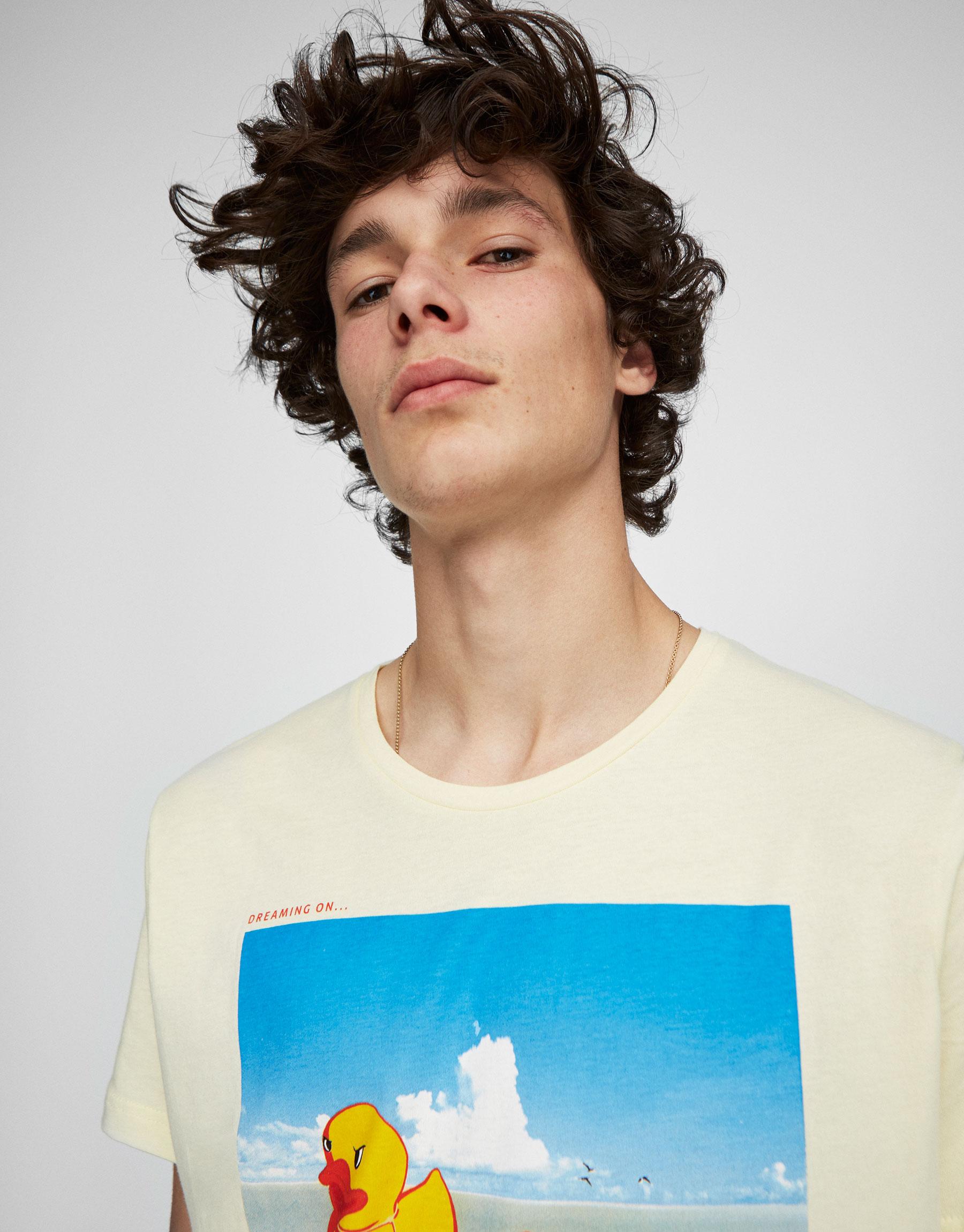 Duckling print T-shirt