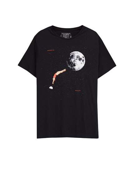 Swimmer print T-shirt