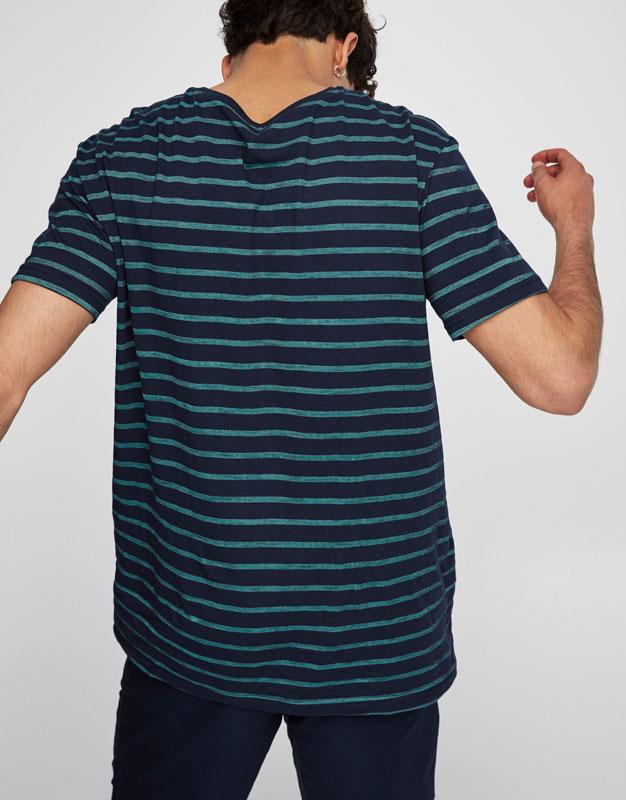 Camiseta rayas cuello redondo