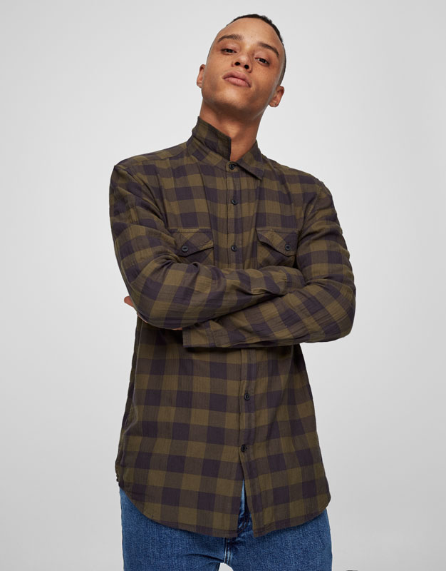 Chequered shirt with pockets