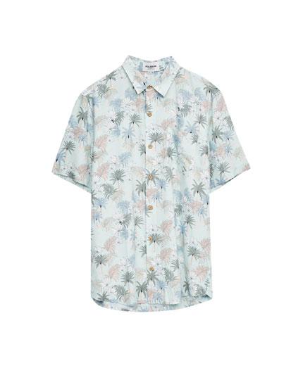 Camisa estampada flores verano