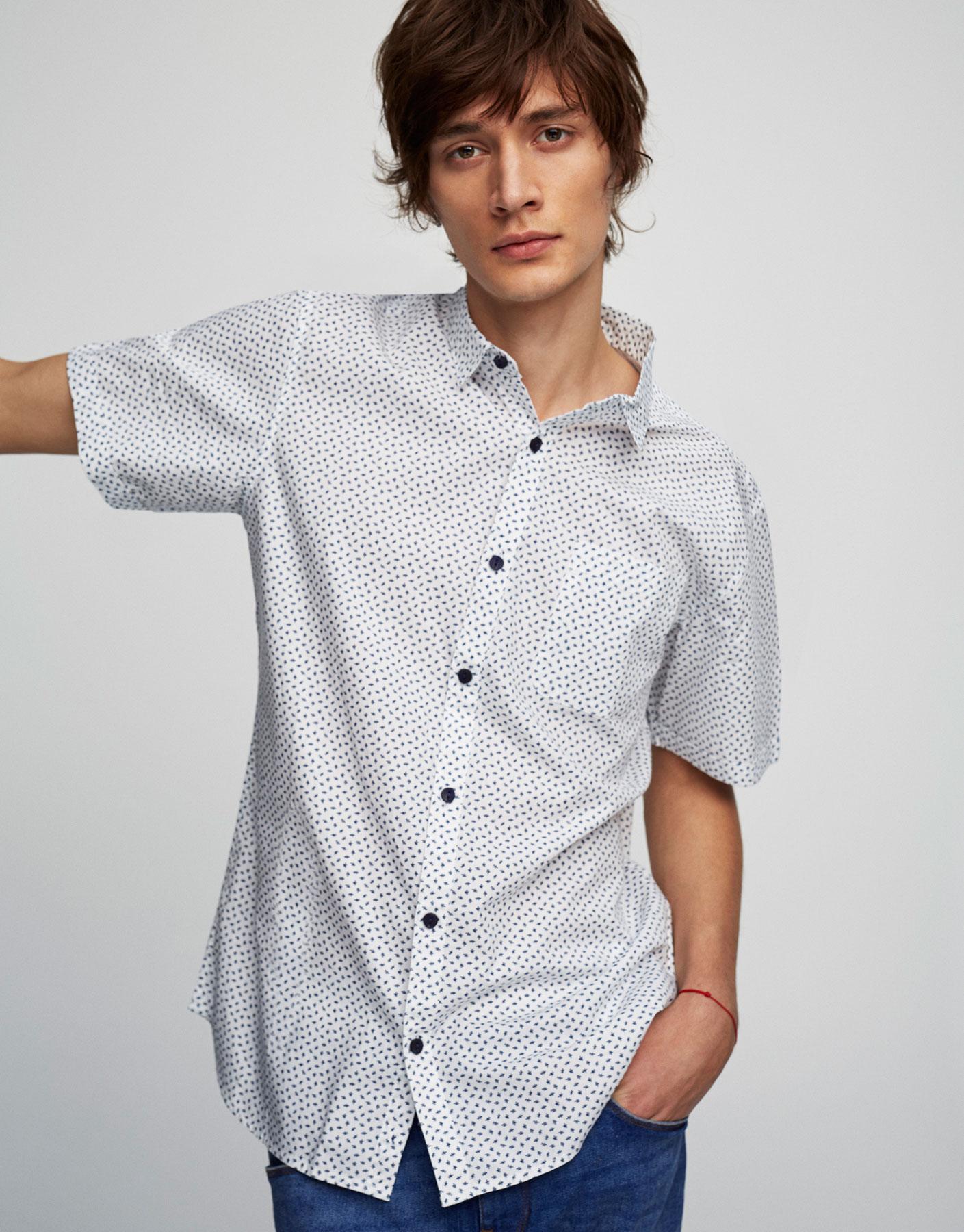 Short-sleeve printed shirt