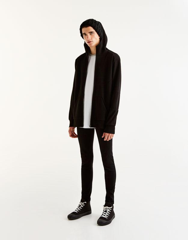 Technical hooded jacket