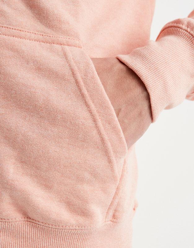 Hooded sweatshirt with zip