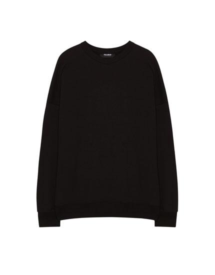 Stitched shoulder sweatshirt
