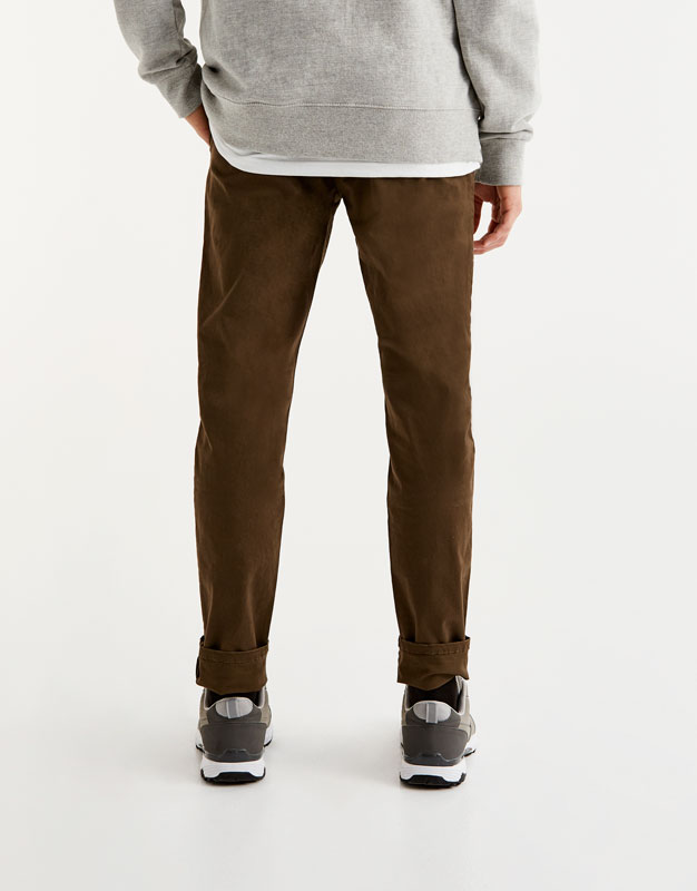 Chino-style trousers with belt