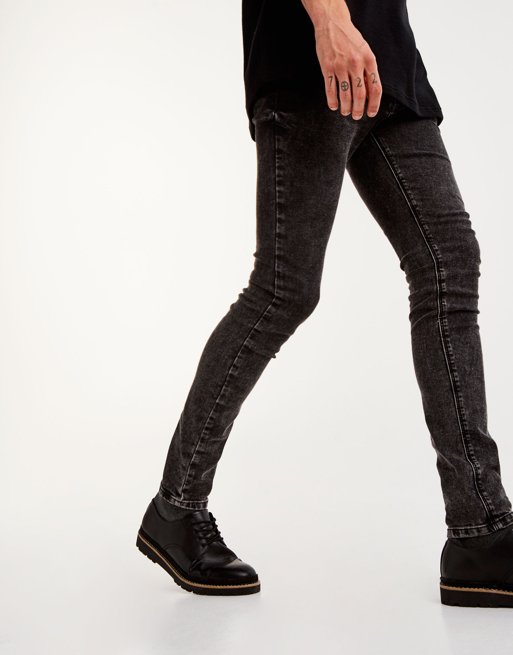 Jeans superskinny fit negro