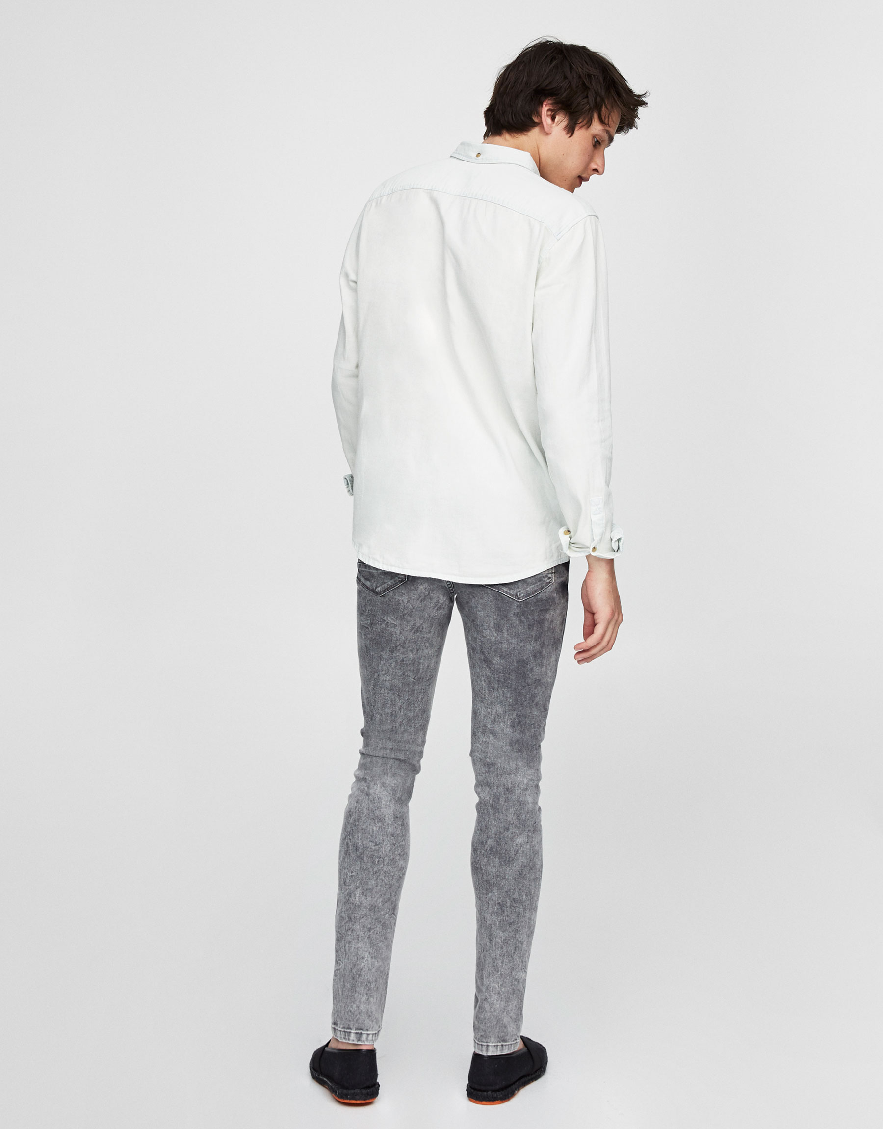Grey delavé super skinny fit jeans