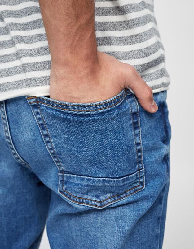 Jean skinny fit bleu classique