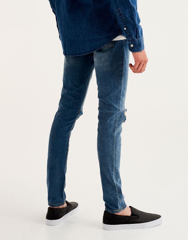Jean skinny fit délavé