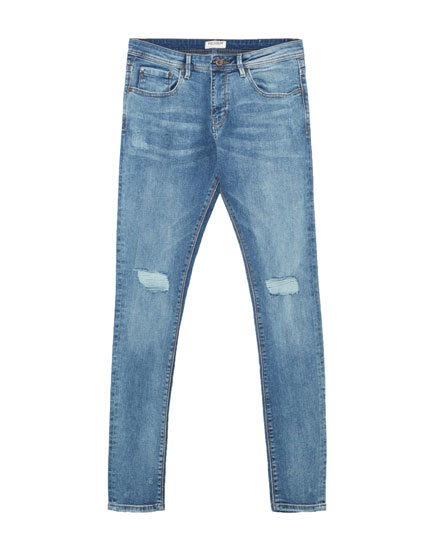 Jeans superskinny fit elásticos