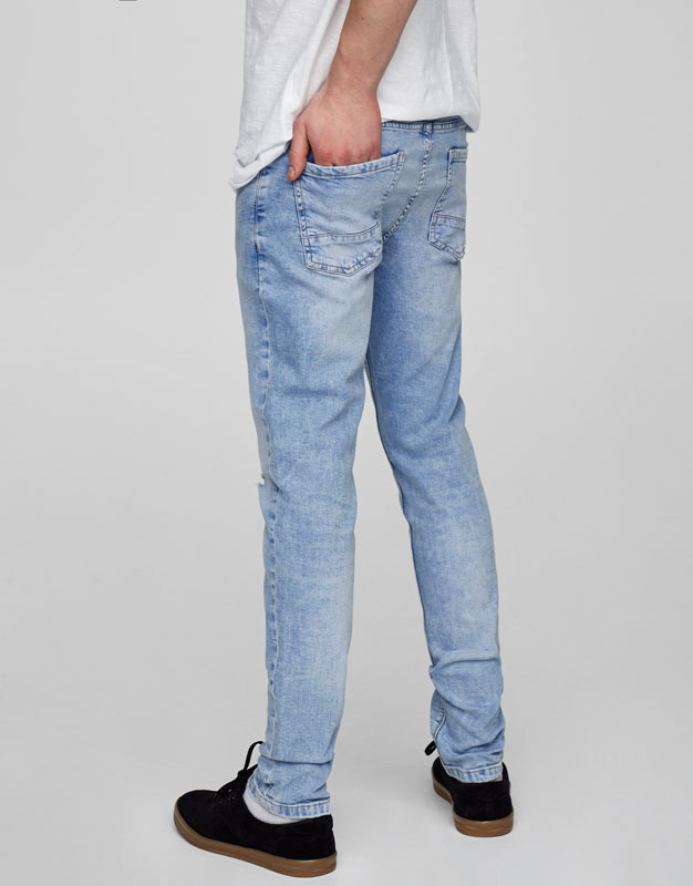 Jean skinny fit bleu clair