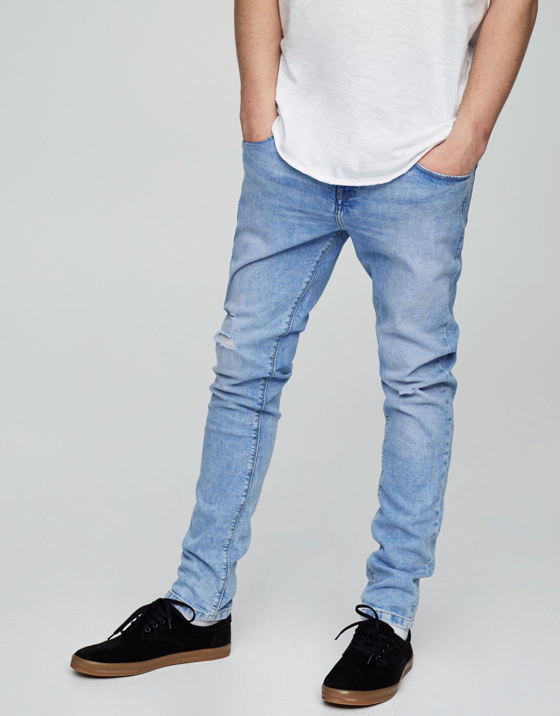 Jeans skinny fit azul claro