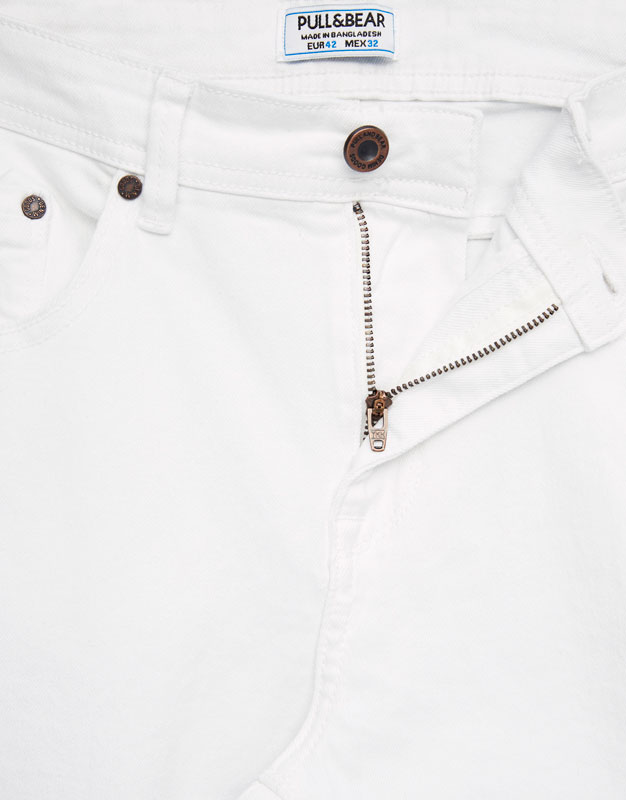 White super skinny fit trousers