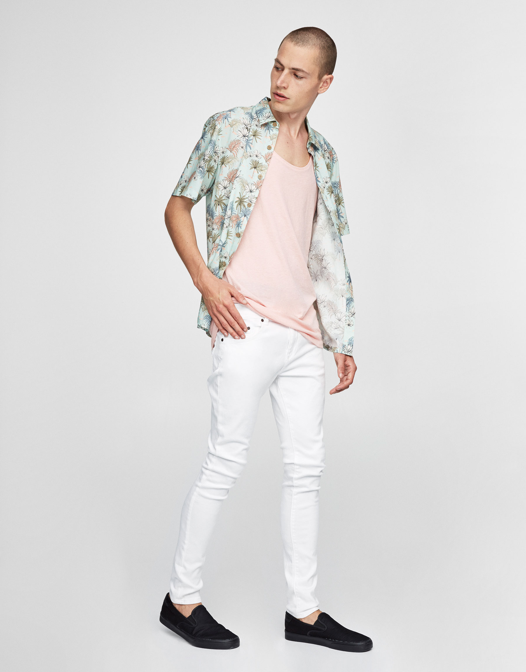 Pantalón superskinny fit branco
