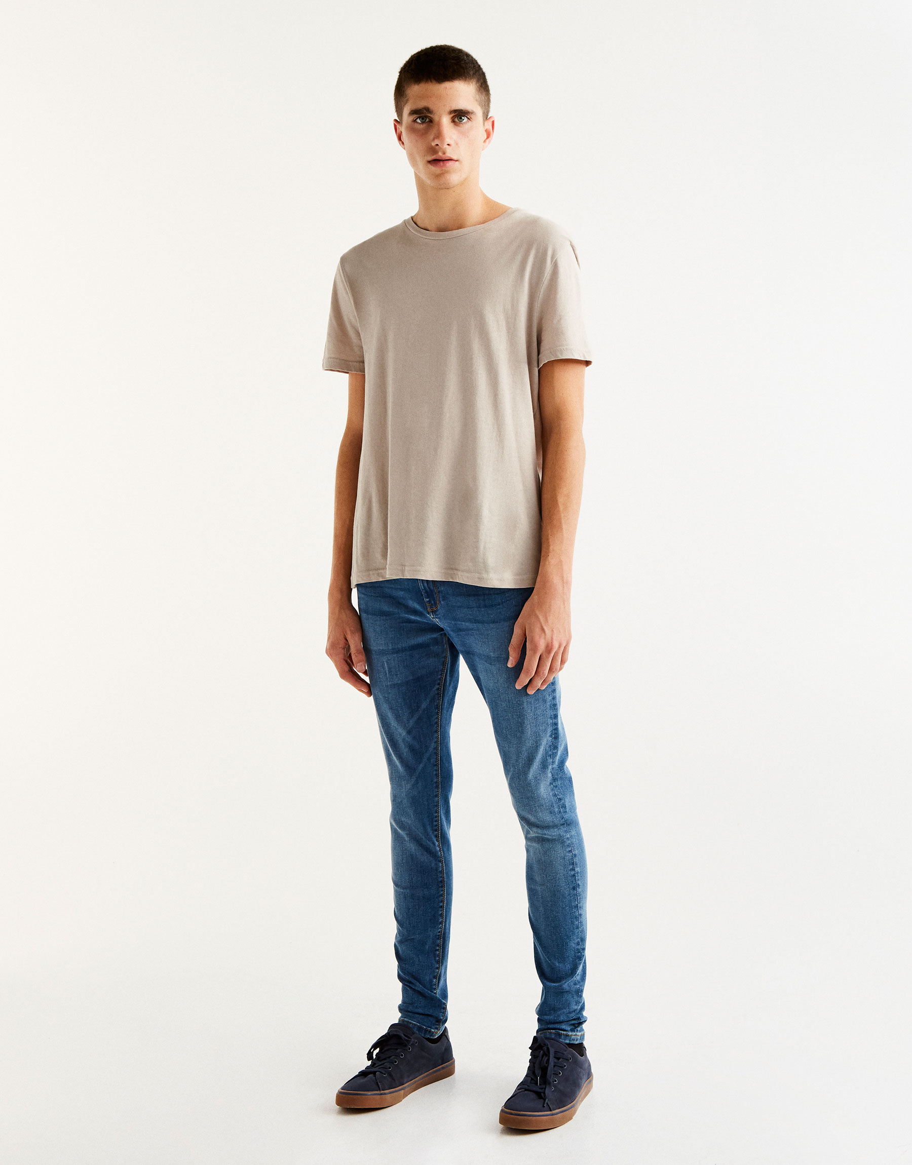 Blaue Superskinny-Jeans