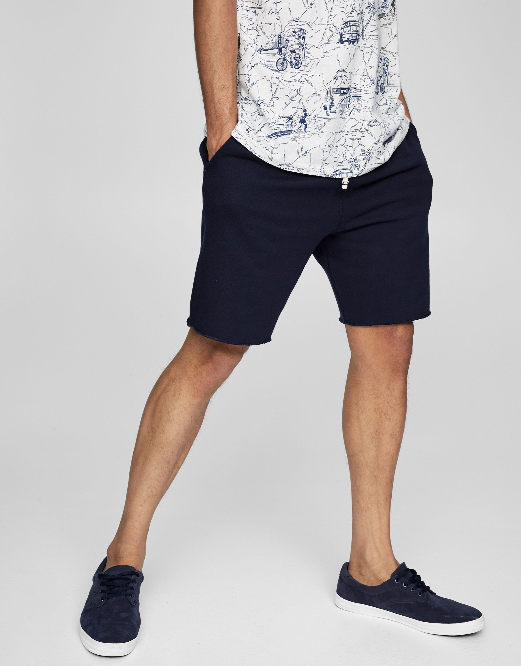 Jogging Bermuda shorts with stretch waist