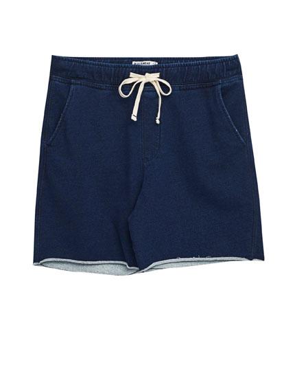 Indigo jogging bermuda shorts