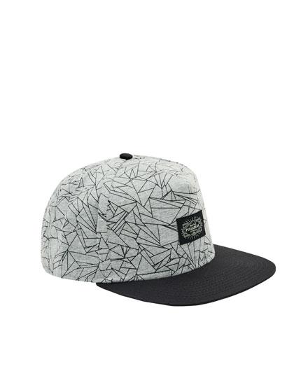 Geometric print cap