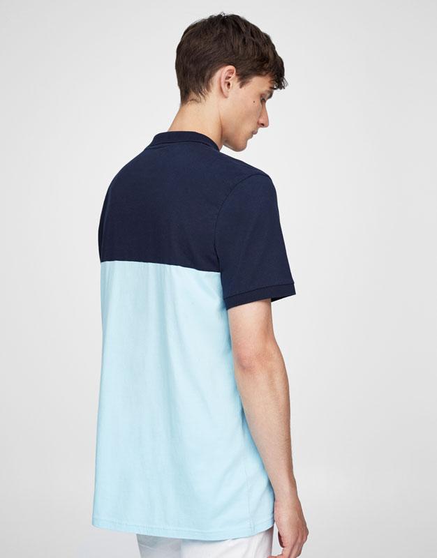 Panels polo shirt