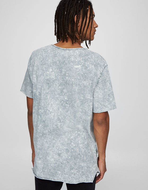Long stone wash T-shirt