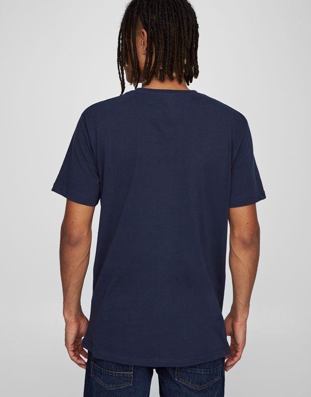 T-shirt with printed swimmer