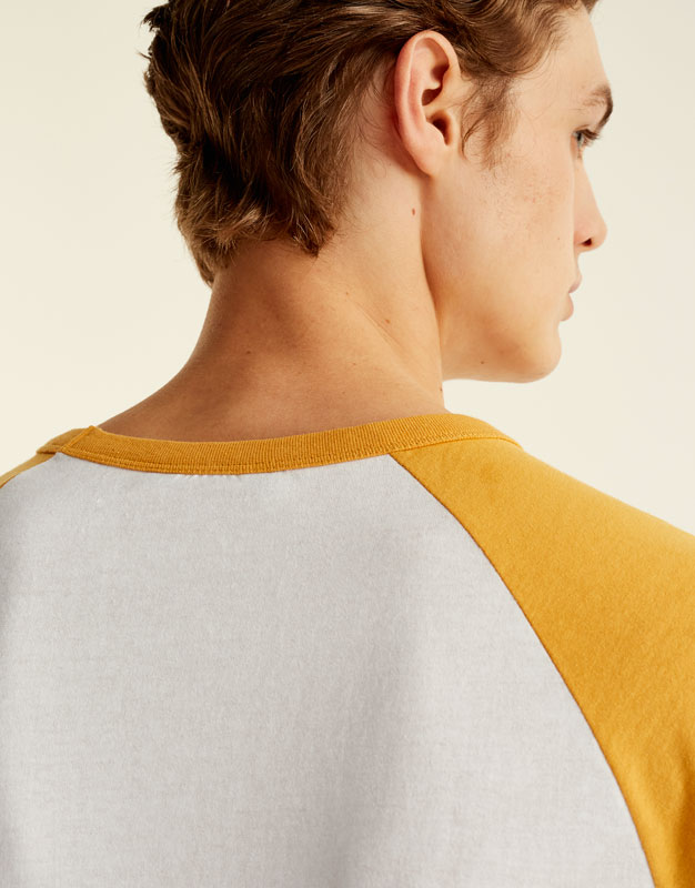Camiseta manga ranglan contraste