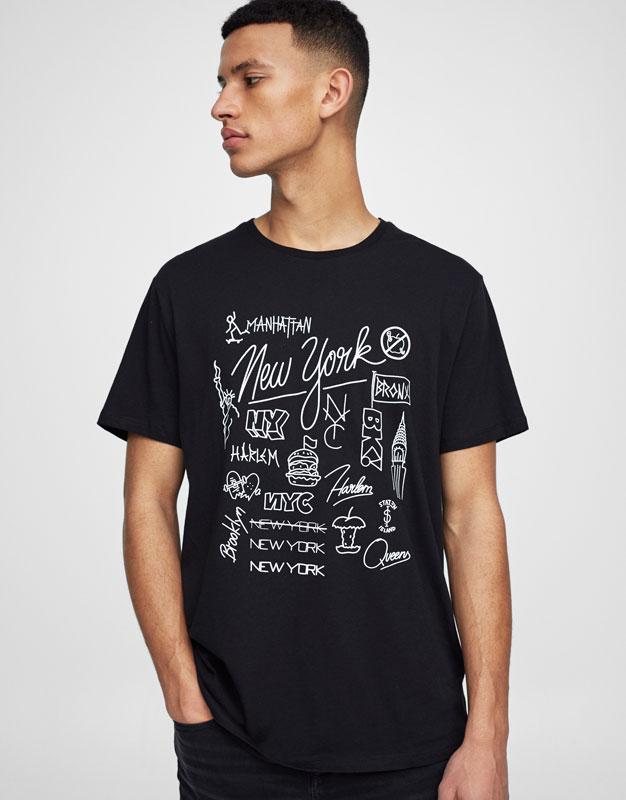 Camiseta print New York