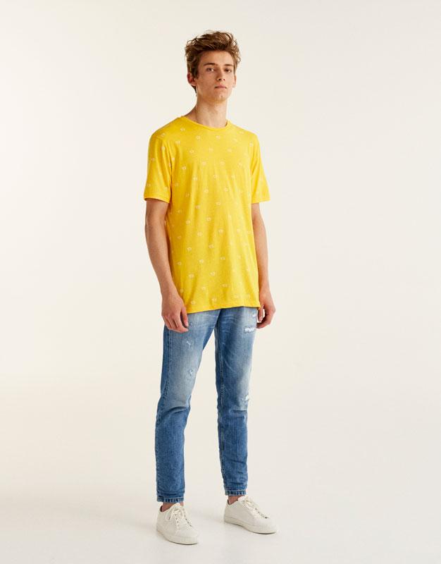 Camiseta estampado allover