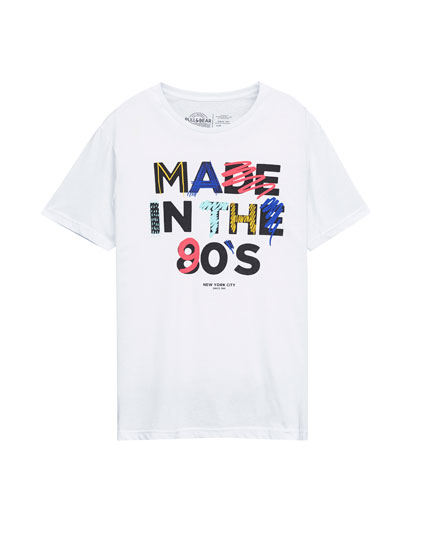 T-shirt imprimé message 90's