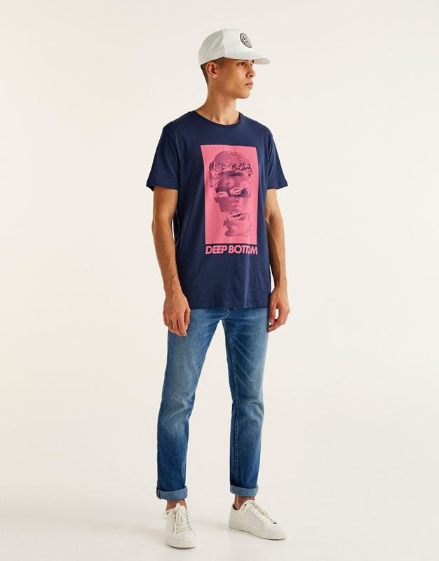 Bust print T-shirt