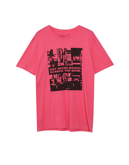 T-shirt with printed city photograph