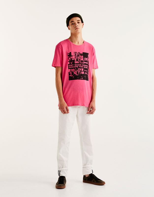T-shirt imprimé photo ville