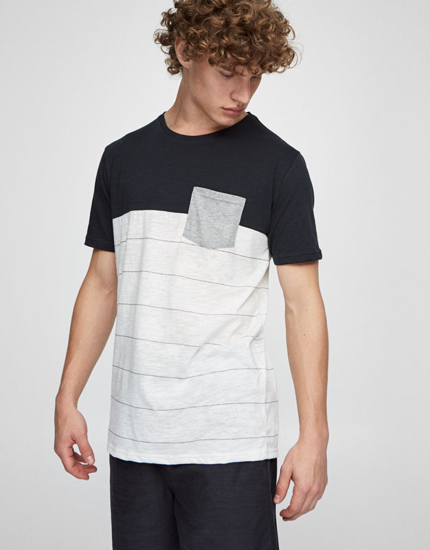 Striped panels T-shirt