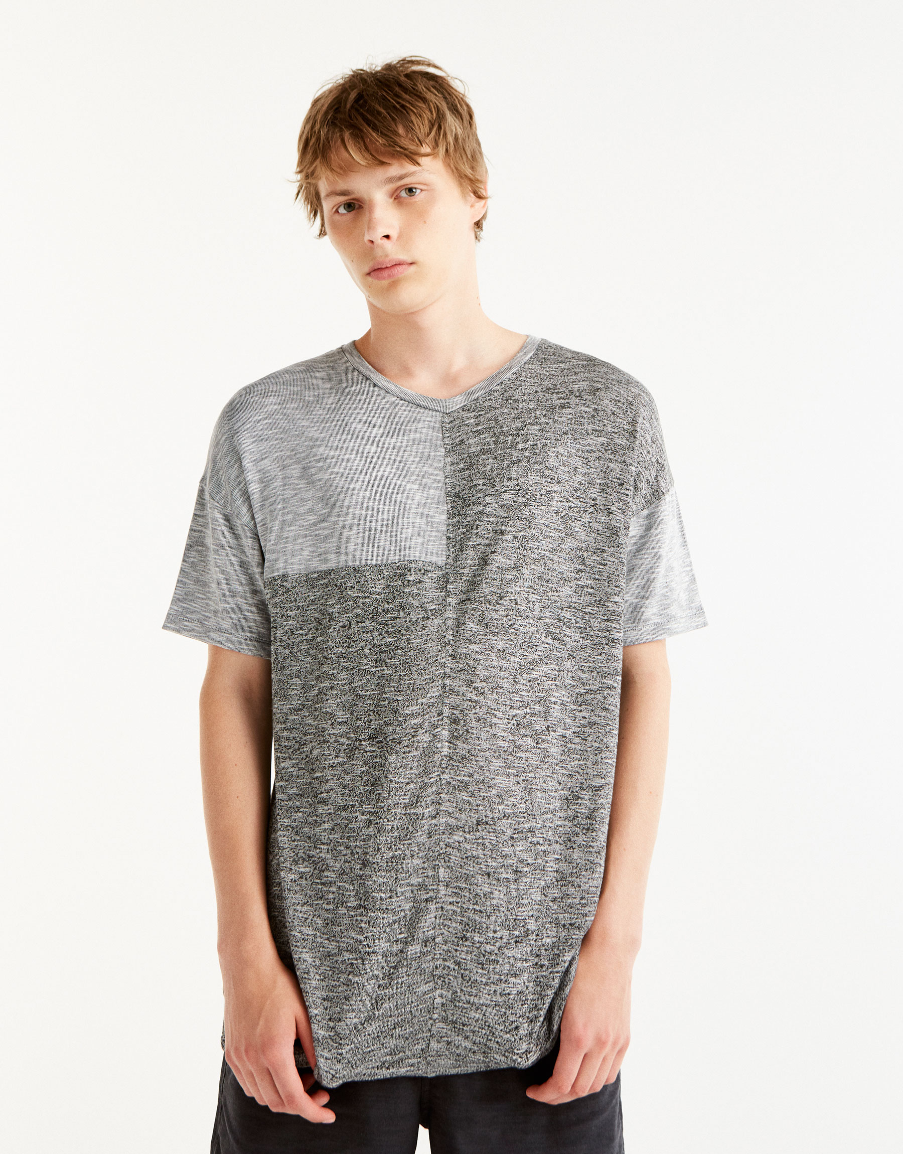 Contrasting panelled T-shirt