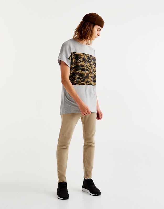 T-shirt panneaux camouflage