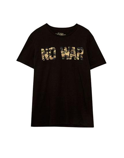 Camiseta texto camuflaje