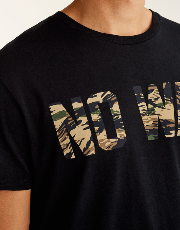T-shirt inscription camouflage