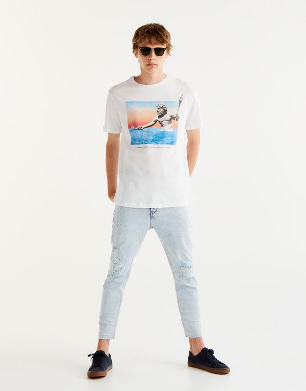 Neptune print T-shirt