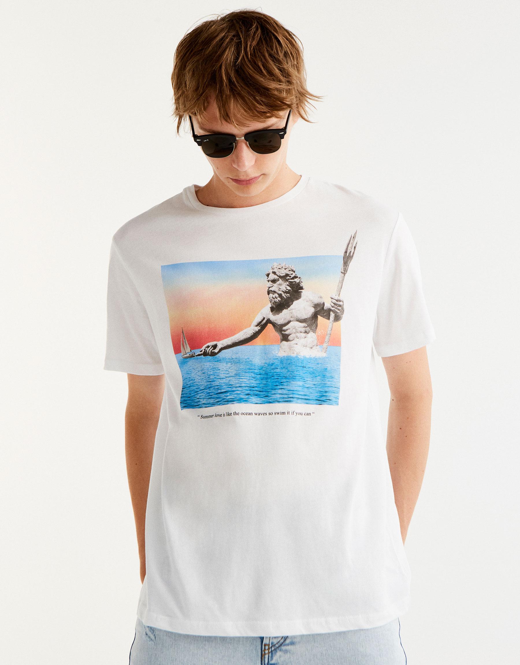 Camiseta print neptuno